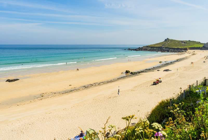 St Ives can be reached either by car, or by taking the little train from St Erth.