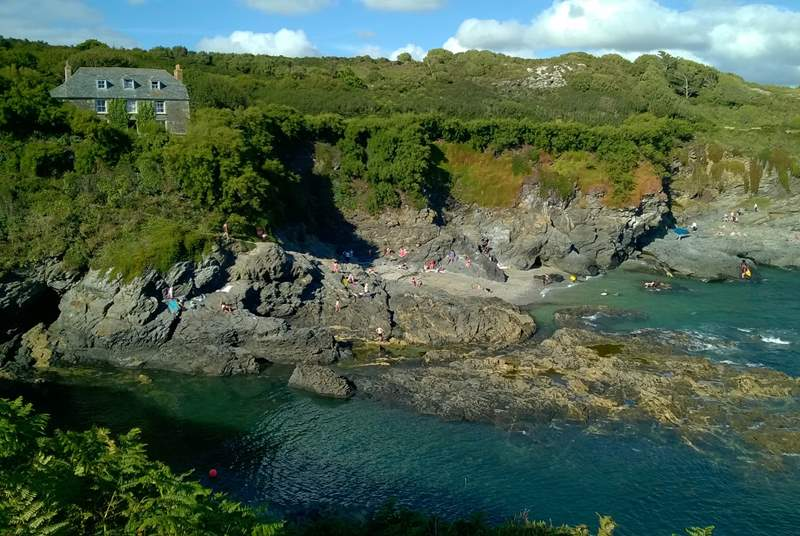 Prussia Cove, the coastal path and stunning scenery.