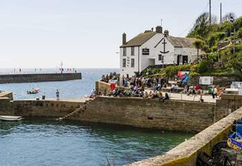 Porthleven is close by and has a sweet little harbour to walk around.