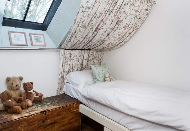 The single bed in bedroom 3 is located under the eaves, so take care.
