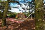 Relax in the hammock with the sound of the leaves rustling in the trees above - bliss!