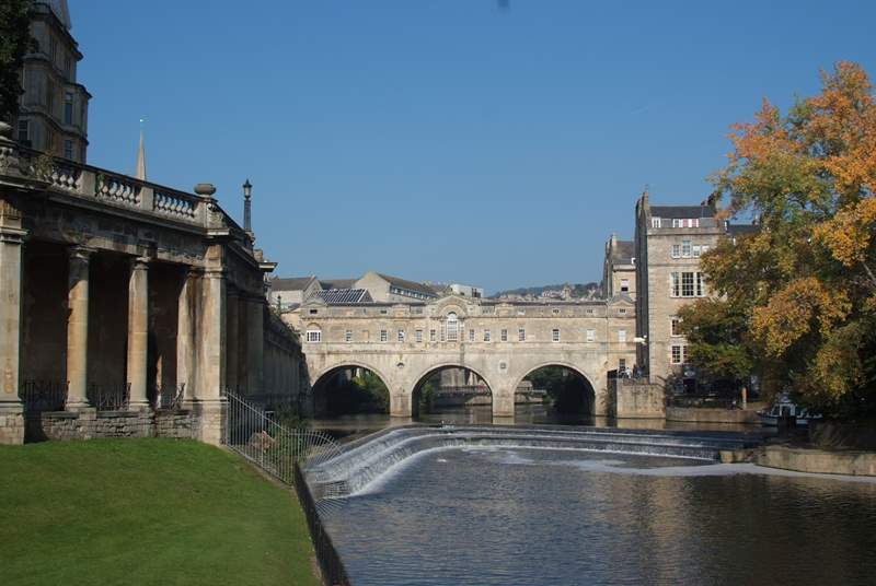 Bath itself is wonderful for a day trip. This famous Roman City is a very straightforward 40 minute drive from Shepton Mallet. There is a very good Park & Ride service there to get into the town centre if you wish.