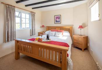 Bedroom 3 is light and bright. A super room to enjoy a restful night's sleep.