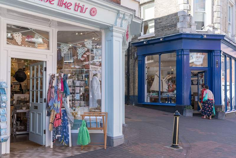You'll be spoilt for choice with the wide range of independent shops.