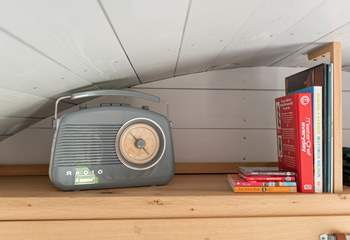 A selection of books and a radio for you to use as you please.