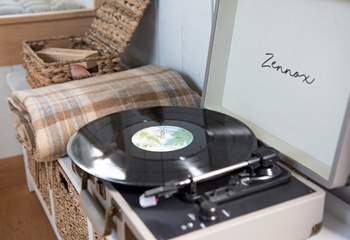 There's even a record player!