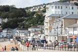 The neighbouring town of Ventnor, with many cafes and restaurants to choose from.