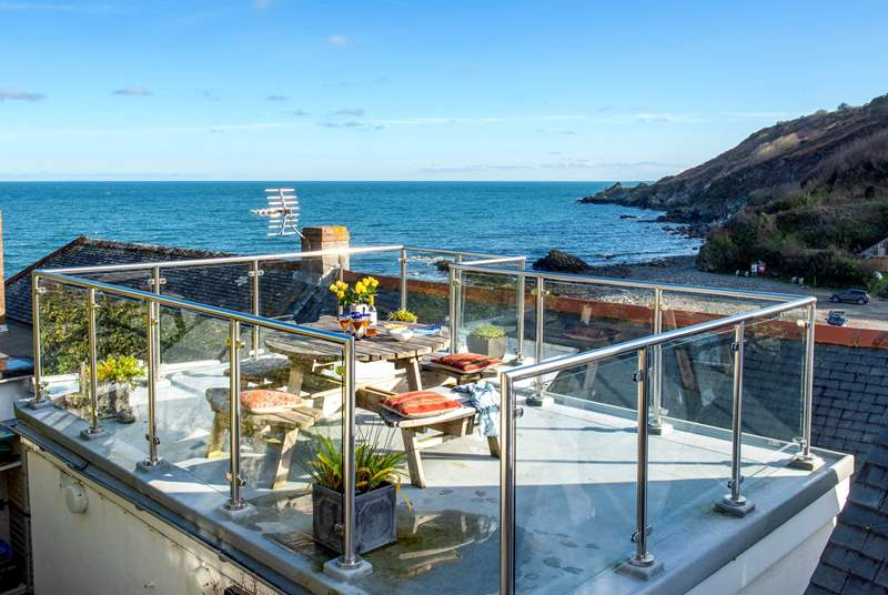 The private terrace has stunning views.
