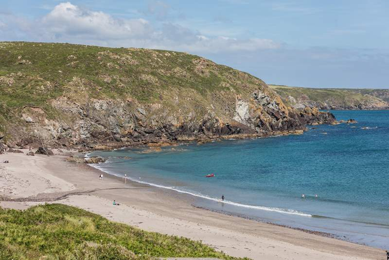 Kennack Sands is close by and is dog-friendly all year round at the far end of the beach.