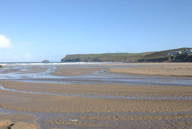 The stunning beach at Polzeath - this stretch of coastline has an abundance of great beaches.