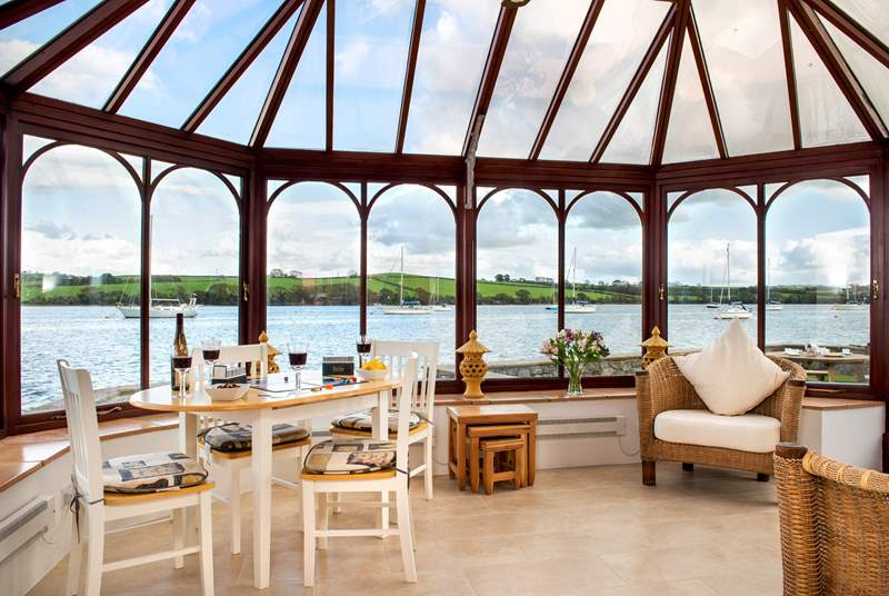 The Boat House is all about the view and the conservatory certainly takes full advantage of it.