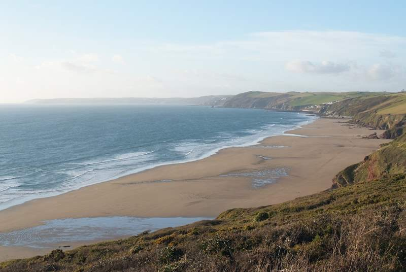 The south Cornish coast.