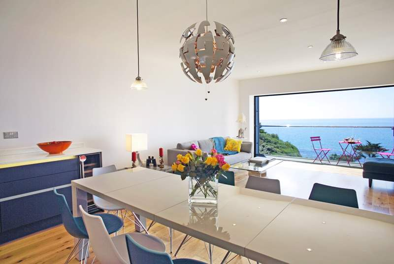 The open plan living-room and all the bedrooms enjoy this wonderful view.