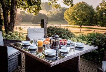 Perfect for al fresco dining in the Sussex countryside.