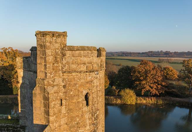 Visit Bodiam Castle, a beautiful 14th Century moated castle situated near Robertsbridge in East Sussex.