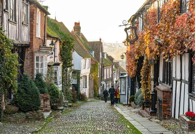 Explore the beautiful cobbled streets of Rye.
