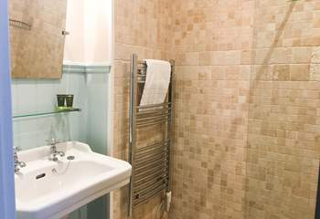 The en suite shower-room with walk-in shower.