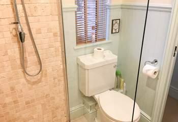 The en suite with walk-in shower.