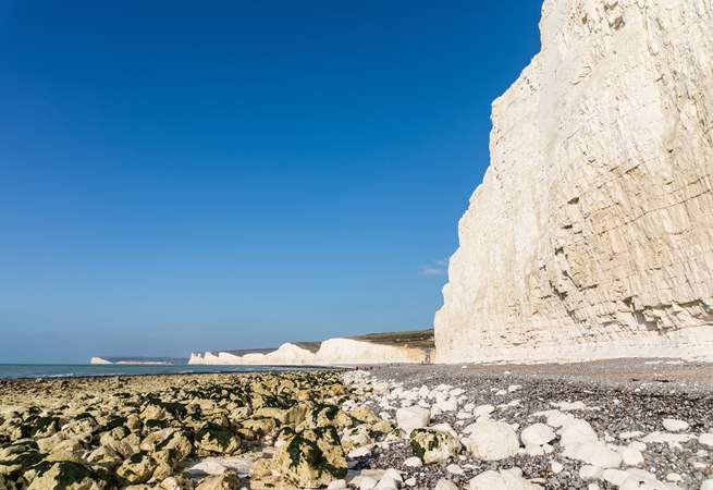 A view of The Seven Sisters which is surrounded by the Sussex Downs Area of Outstanding Natural Beauty.