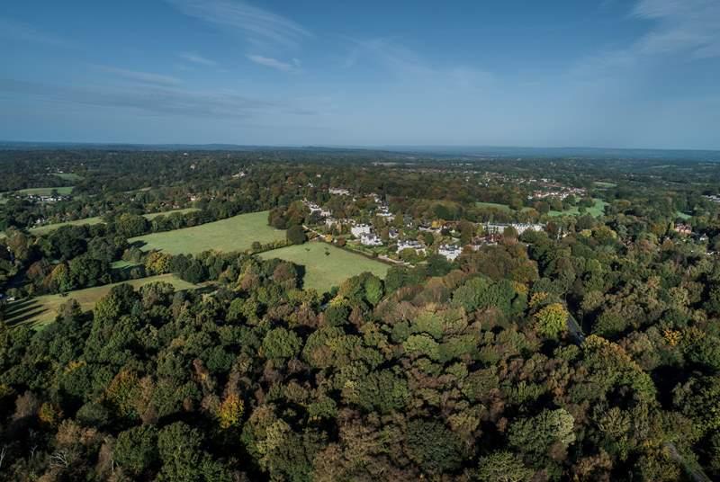 The beautiful Kent countryside.