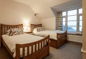 Bedroom 2, with fabulous sea views.
