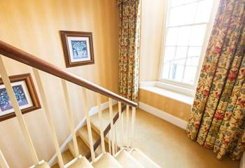 Period stair case leading to all floors.