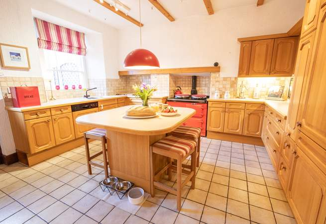 Family kitchen complete with Aga.