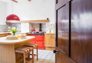 Fully equipped kitchen at Menai House.