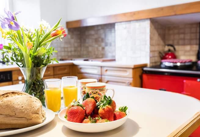 Spacious kitchen at Menai House.