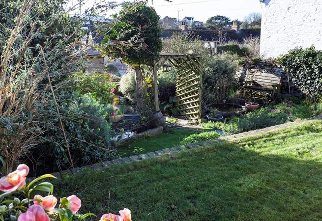 The garden is lovely - especially in the summer. It is tiered, so care is needed.