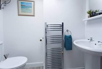 The super useful wet-room is located on the ground floor.