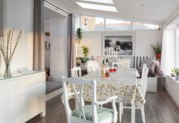The gorgeous conservatory is a fabulous place to enjoy breakfast, before starting your day.