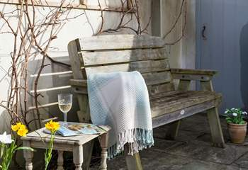 A glass of wine in the garden listening to the bird song is a perfect end to a lovely day.