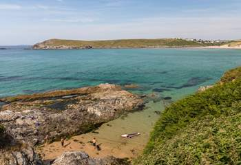 The North Coast has many hidden coves, which are a delight for exploring. Sometimes you are the only ones here!