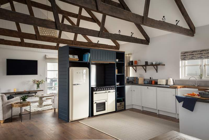 The gorgeous kitchen. Foodie fans will enjoy using the range cooker.