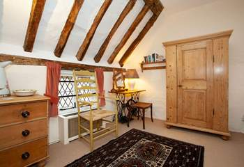Characterful twin bedroom.