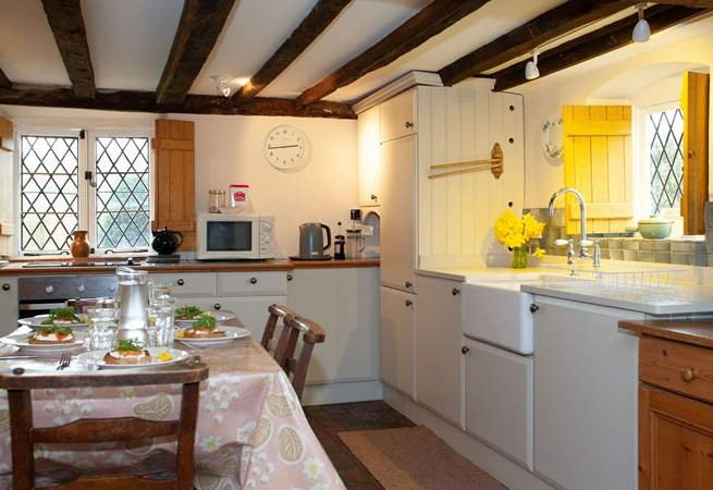 Complete with a Butler sink where you can look out onto the garden.
