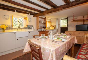 Plenty of room to prepare a meal in the fully equipped kitchen.