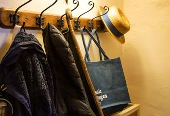 Space for hats and coats.