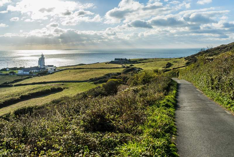 Head over to the west side of the Island and explore the stunning coastal paths.