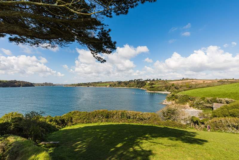 The tranquil banks of The Helford are within easy reach.