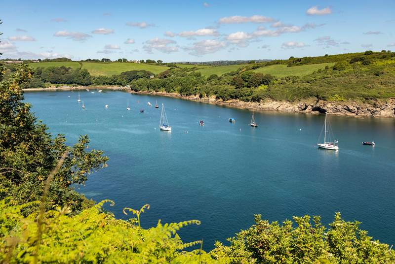 The tranquil banks of the Helford are a short drive away.