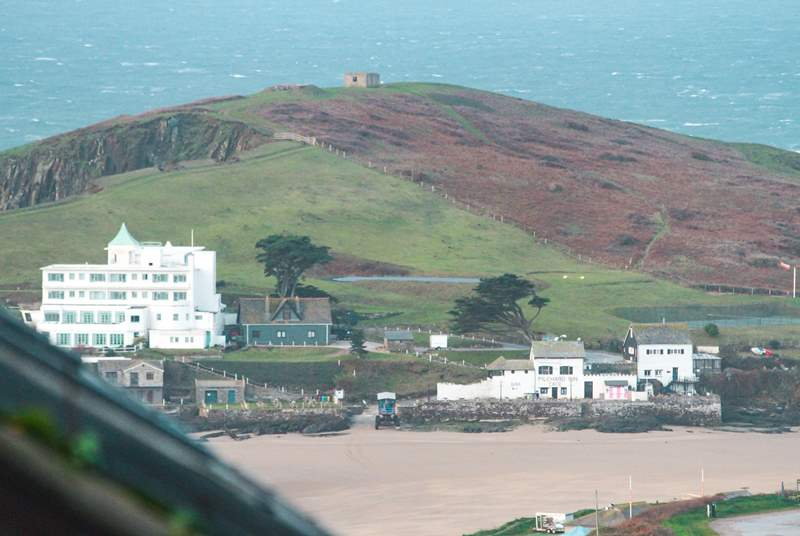 What a fabulous view of the Pilchard Inn and the infamous Burgh Island Hotel, both of which extend a very warm welcome to guests.