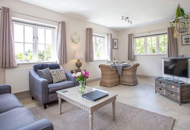 Stunning open plan living area.