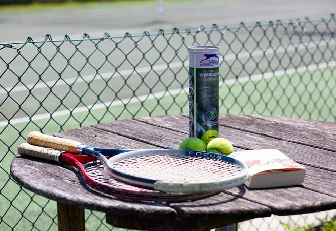 Rackets and balls provided.