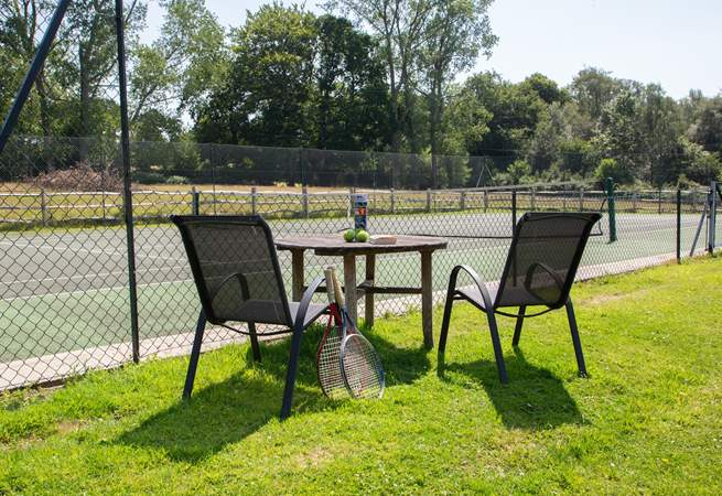 The added bonus of a shared tennis court.