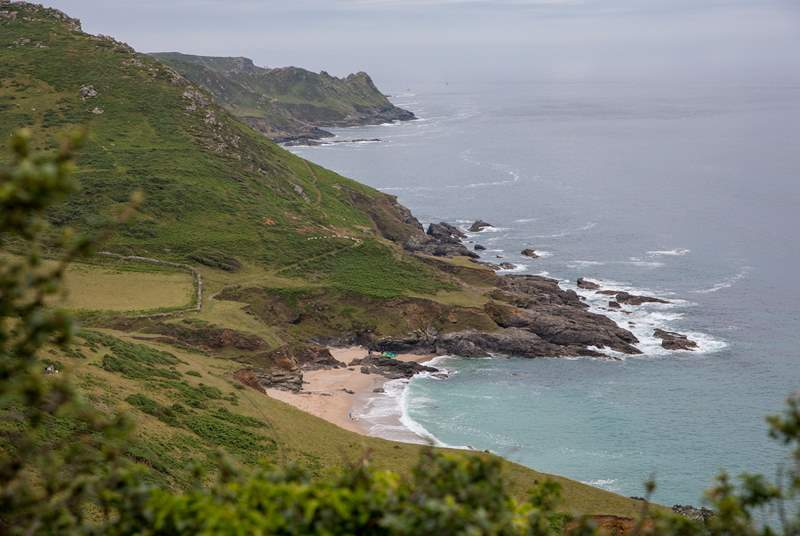 The stunning coastline which can be found at Mill Bay in East Portlemouth.