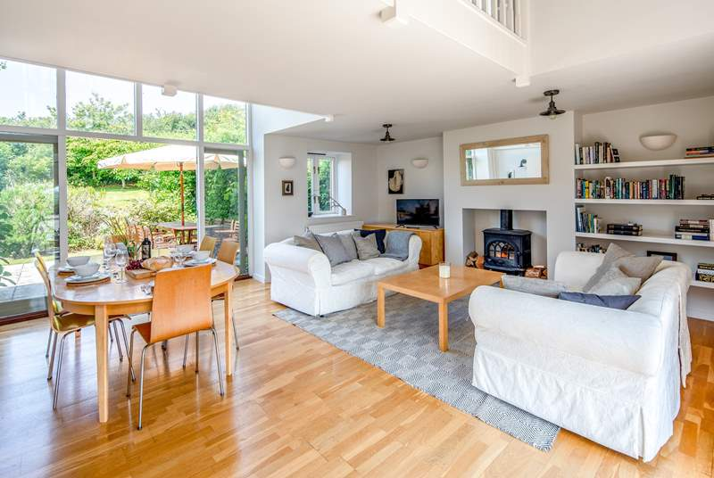 Great open plan living space which opens directly onto the patio and garden.
