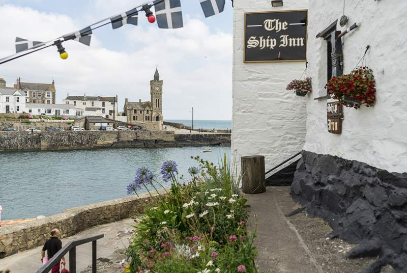 Enjoy a crab sandwich at The Ship in Porthleven, if you are feeling adventurous take the footpath from Helston but it is also only a short drive away.