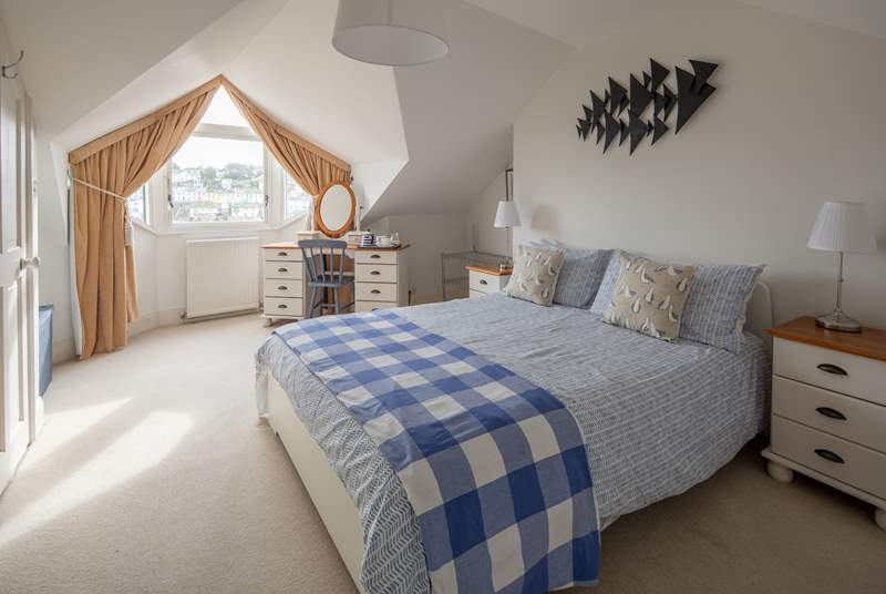 Bedroom 2 also has fabulous views out over the harbour.